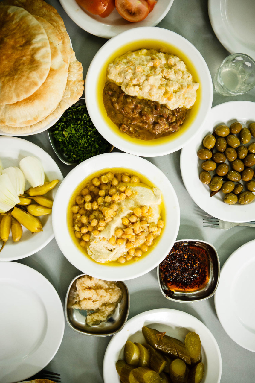 Old Akko, Israel ; hummus Said